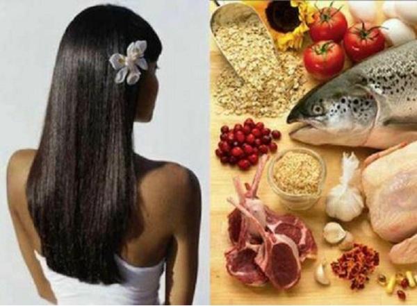 Правильное питание является одним из способов укрепления шевелюры.
