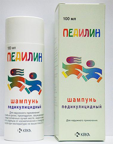 Препарат-шампунь (на фото) убивает вшей, но раздражает кожу.