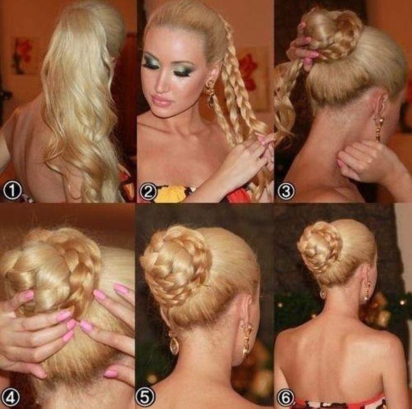 Прическа с косами выглядит очень празднично