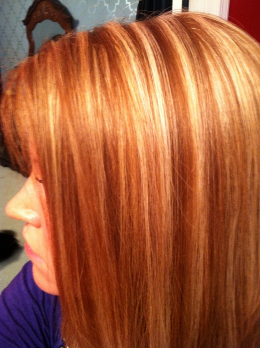 Рыжие волосы каре мелирование