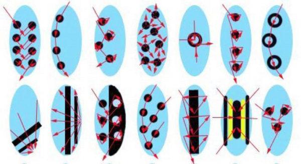 Примеры схем для создания рисунка своими руками с помощью зубочистки или апельсиновой палочки