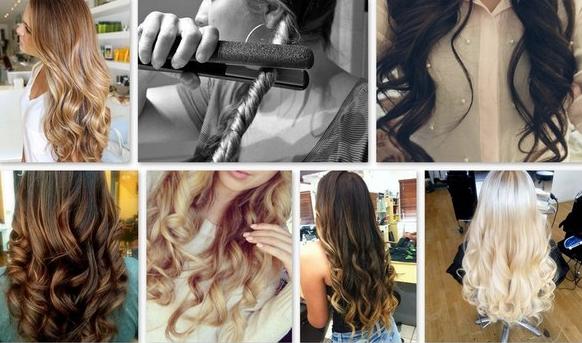 Простой способ, как сделать кудри утюжком на длинные волосы
