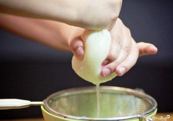 Процесс получения лукового сока