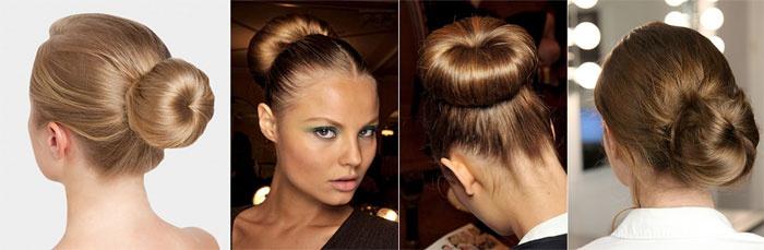 Прическа с гулькой на длинные волосы фото