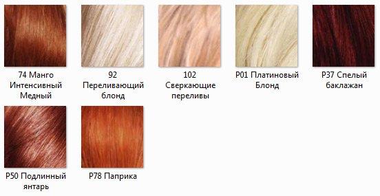 Рыжие «нотки», за исключением трех блонда