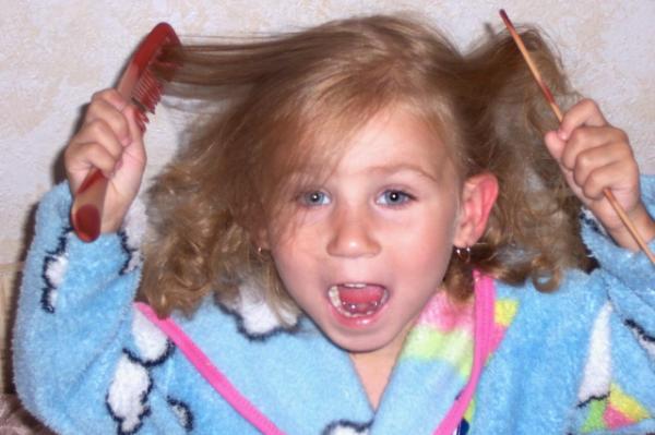 С применением средств для облегчения расчёсывания, детские капризы останутся в прошлом