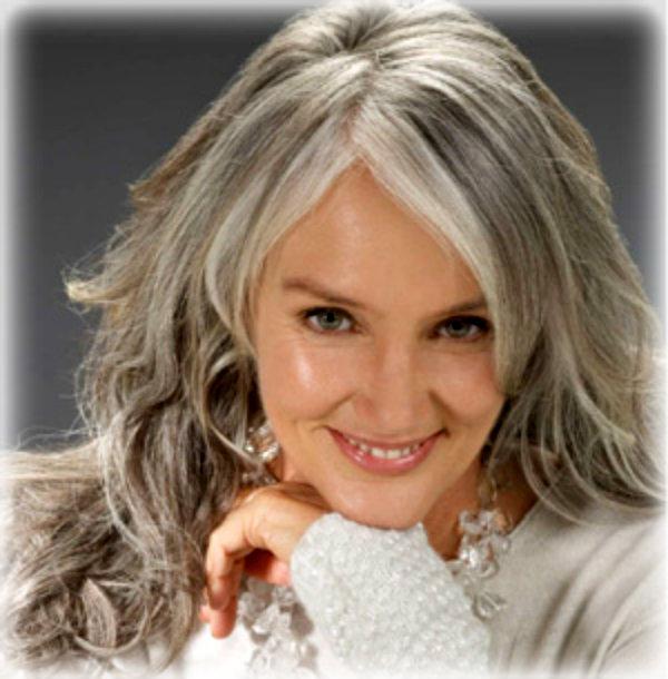 Цвет волос для седых волос фото до и после