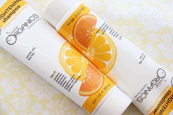 Шампунь для темных волос из органической серии Juice Organics Orange Brightening Shampoo
