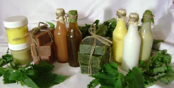 Шампунь с репейным маслом можно готовить на основе отваров трав, например ромашки или крапивы