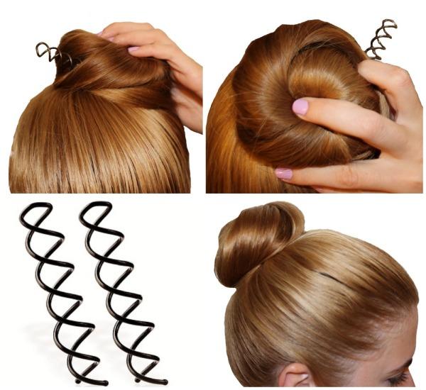 Штука для пучка из волос в форме витой шпильки по достоинству будет оценена обладательницами тяжелых волос