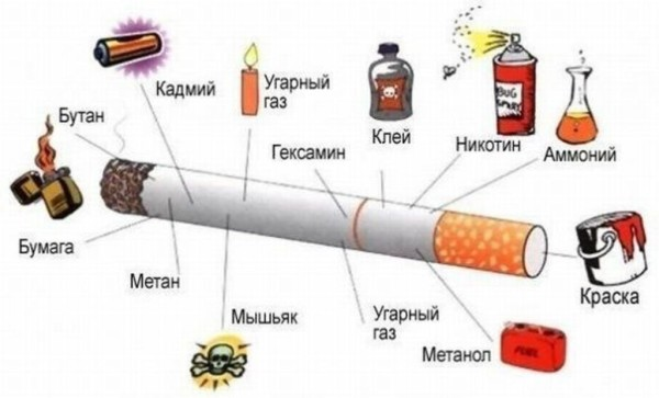 Сигаретный дым – это физико-химическая система, состоящая из продуктов горения табака.