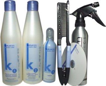 Система Keratin Shot Salerm – наиболее простой способ сделать кератиновое выпрямление волос на дому