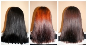 Смывка черной краски с темно-каштановых волос при помощи медовых масок
