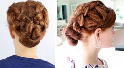 Собранные волосы в косах открывают взору окружающих красивую линию шеи, а сам образ становится элегантным