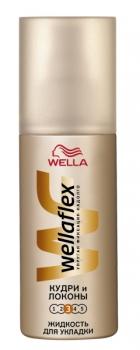 Спреем Wellaflex можно обновлять волнистую прическу в течение дня.