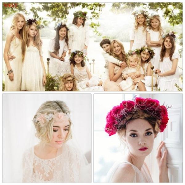 Стильно и натурально: свадебные образы с венками