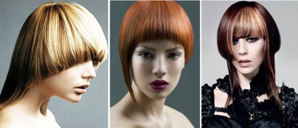 Стрижка шапочка на средние волосы – пример модной ассиметричной вариации