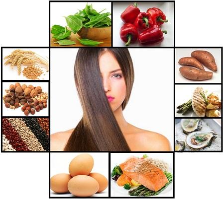 Существует определенный круг продуктов, необходимый для здоровья локонов