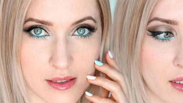Светло-русый цвет позволяет в макияже делать акцент на оттенке глаз