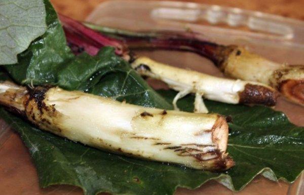 Свежий корень очищают и измельчают с помощью ножа