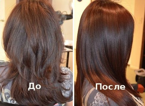 Так выглядят волосы до и после процедуры восстановления