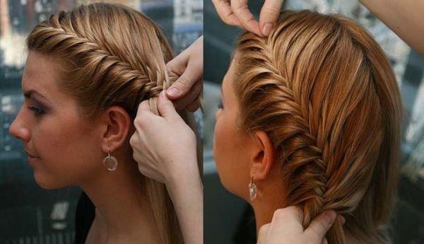 Также можно создавать косы с боковой части головы