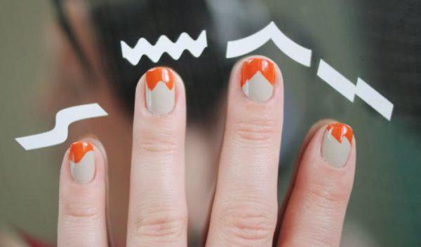 Цена трафаретов для простого дизайна ногтей в маникюре в среднем составляет от 100 до 500 рублей