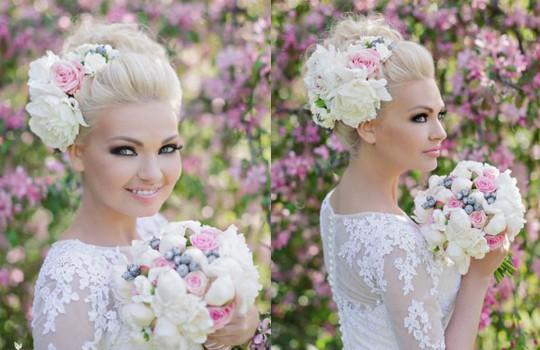 Цветы и прочие аксессуары сделают невесту истинной принцессой