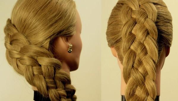 Удачное плетение на тонкие волосы, поскольку выглядит очень объемно.