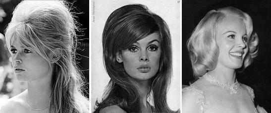 В 60-е годы представительницы прекрасного пола часто начесывали пряди и создавали потрясающие объемные прически