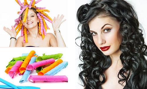 В настоящее время существует множество разновидностей бигуди, максимально упрощающих процесс создания кудрей на длинные волосы своими руками