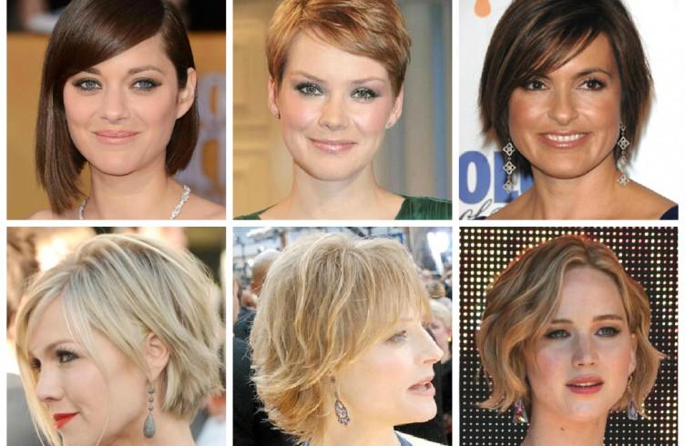 Короткие прически на круглые лица фото до и после