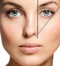 Визуально проведенные линии помогут определить идеально подходящую форму