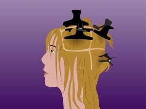 Волосы, разделенные на секции