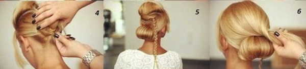 Второй этап – плетение косы и оформление верхней части