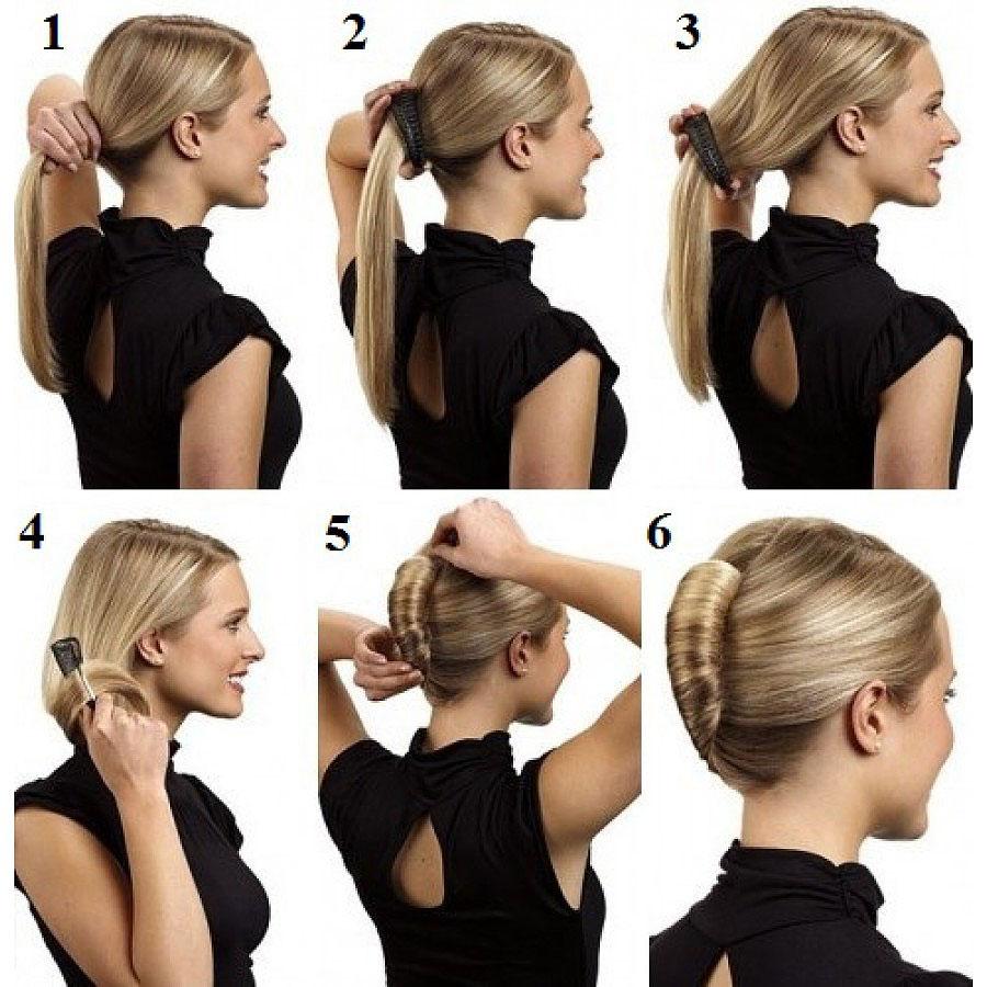 Как сделать ракушку на средних волос 668
